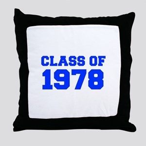 CLASS OF 1978-Fre blue 300 Throw Pillow
