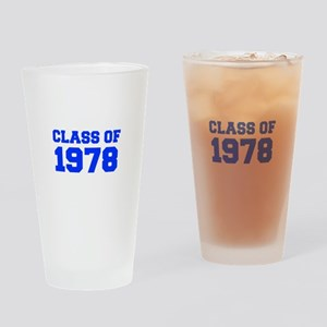 CLASS OF 1978-Fre blue 300 Drinking Glass