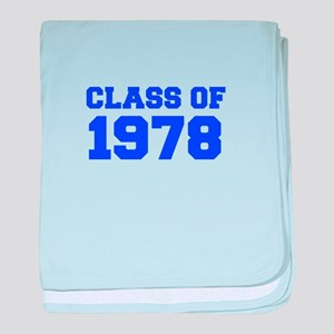 CLASS OF 1978-Fre blue 300 baby blanket
