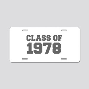 CLASS OF 1978-Fre gray 300 Aluminum License Plate