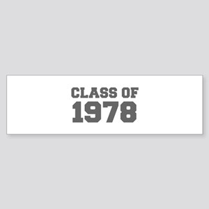 CLASS OF 1978-Fre gray 300 Bumper Sticker