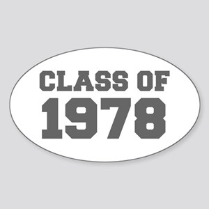 CLASS OF 1978-Fre gray 300 Sticker