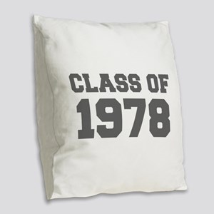 CLASS OF 1978-Fre gray 300 Burlap Throw Pillow