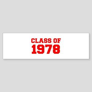 CLASS OF 1978-Fre red 300 Bumper Sticker