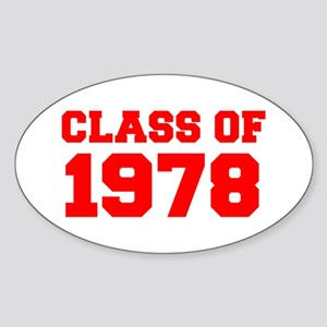 CLASS OF 1978-Fre red 300 Sticker