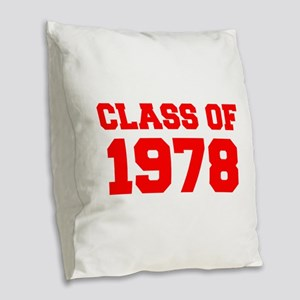 CLASS OF 1978-Fre red 300 Burlap Throw Pillow