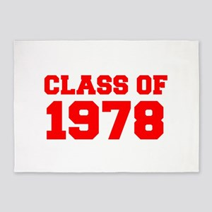 CLASS OF 1978-Fre red 300 5'x7'Area Rug