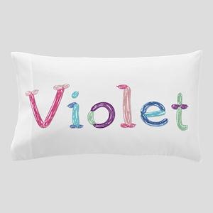 Violet Princess Balloons Pillow Case