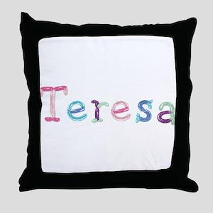 Teresa Princess Balloons Throw Pillow