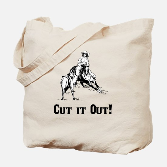 Cutting Horse Tote Bag