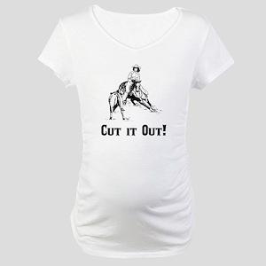 Cutting Horse Maternity T-Shirt