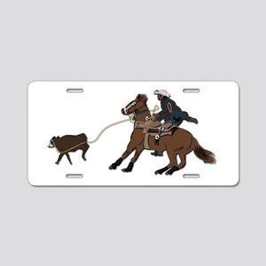 Calf Roping without Text Aluminum License Plate