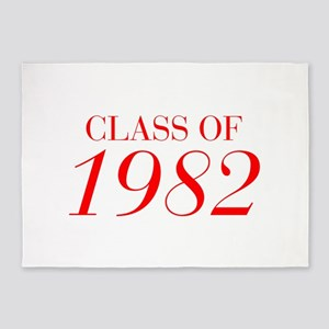 CLASS OF 1982-Bau red 501 5'x7'Area Rug