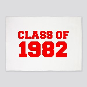 CLASS OF 1982-Fre red 300 5'x7'Area Rug
