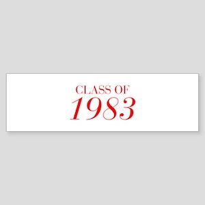 CLASS OF 1983-Bau red 501 Bumper Sticker