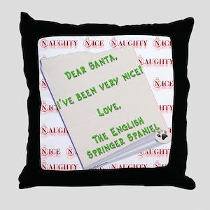 Springer Spaniel Nice Throw Pillow
