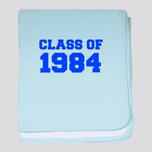 CLASS OF 1984-Fre blue 300 baby blanket