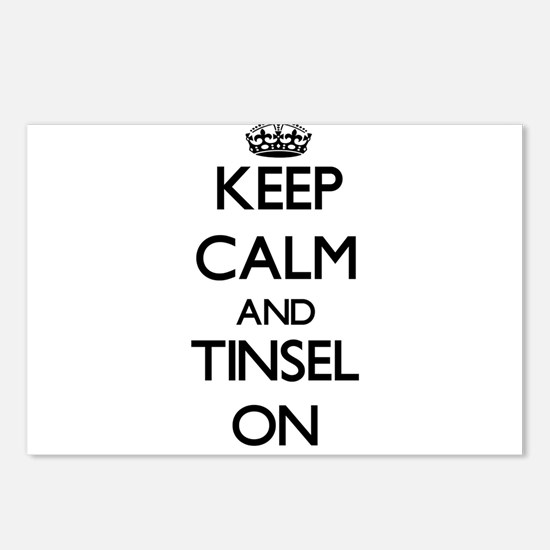 Keep Calm and Tinsel ON Postcards (Package of 8)