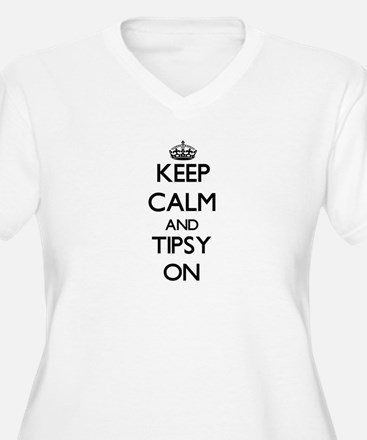 Keep Calm and Tipsy ON Plus Size T-Shirt
