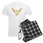 Flying Barn Owl Men's Light Pajamas