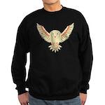Flying Barn Owl Sweatshirt (dark)