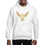 Flying Barn Owl Hooded Sweatshirt