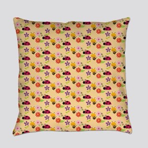 Pretty Flowers Bees and Ladybug Pattern Everyday P