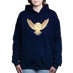 Flying Barn Owl Women's Hooded Sweatshirt