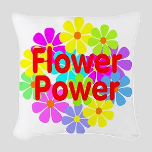 Flower Power Woven Throw Pillow