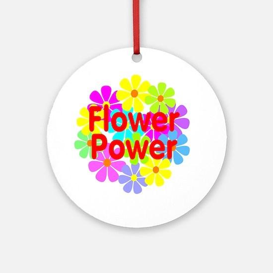 Flower Power Ornament (Round)