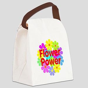 Flower Power Canvas Lunch Bag