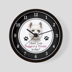 Westie Hug Wall Clock