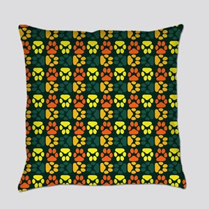 Whimsical Cute Paws Pattern Everyday Pillow