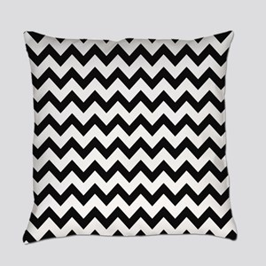 Black and White Chevron Everyday Pillow