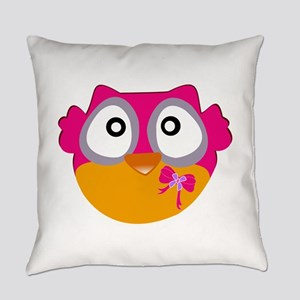 Cute Blue Owl Everyday Pillow