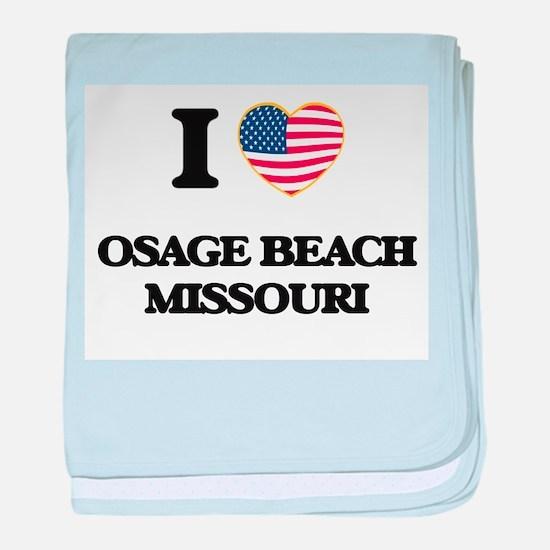 I love Osage Beach Missouri baby blanket