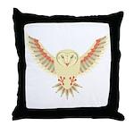 Flying Barn Owl Throw Pillow
