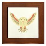 Flying Barn Owl Framed Tile