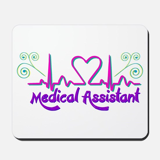 Medical Assistant Heart Beat Mousepad