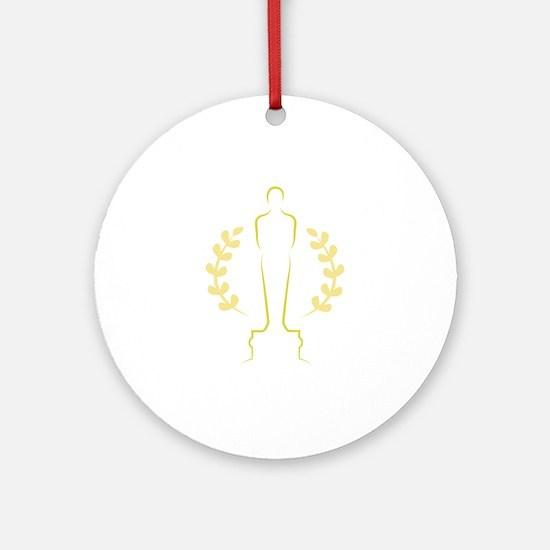 Award Statue Ornament (Round)