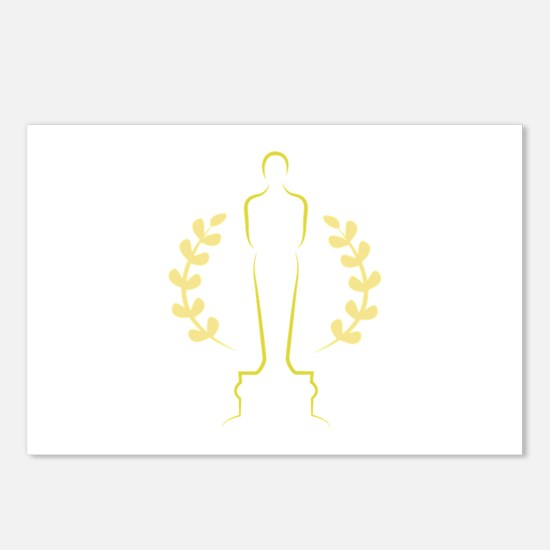 Award Statue Postcards Package Of 8