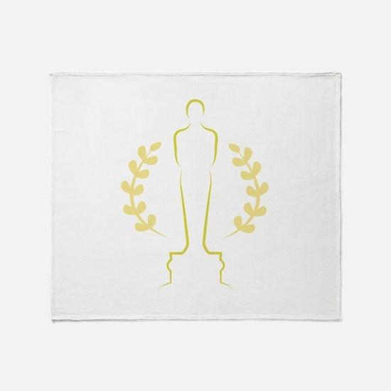 Award Statue Throw Blanket