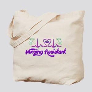 Nursing Assistant CNA Heart Beat Tote Bag