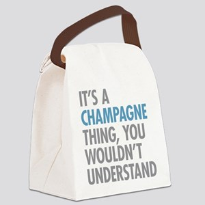 Champagne Thing Canvas Lunch Bag