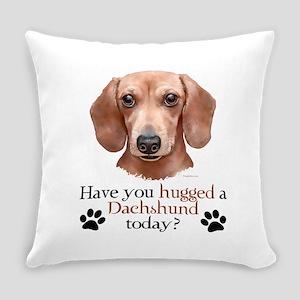 Dachshund Hug Everyday Pillow