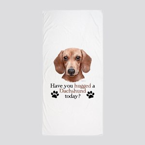 Dachshund Hug Beach Towel