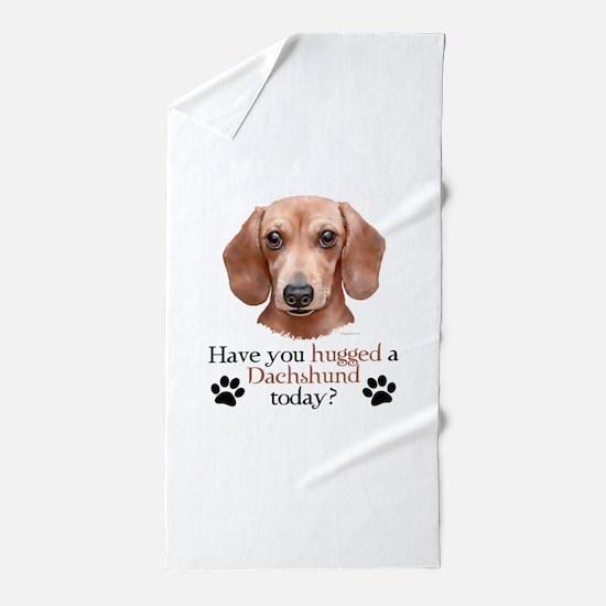 Dachshund Hug Beach Towel