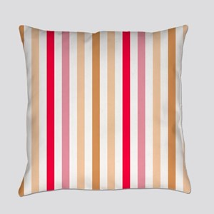 Colorful Pastel Stripes Pattern Everyday Pillow