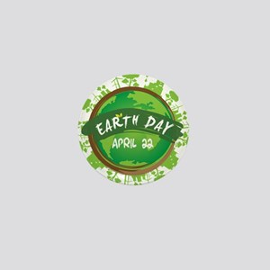 Earth Day April 22 Mini Button