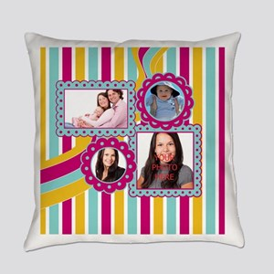 Add Family Pictures Everyday Pillow